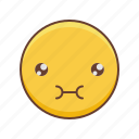 emoji, kawaii, nom, om, smiley icon