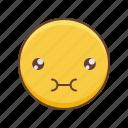 emoji, kawaii, nom, om, smiley