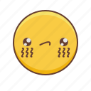 emoji, emoticon, emoticons, emotion, face, smiley, tears icon