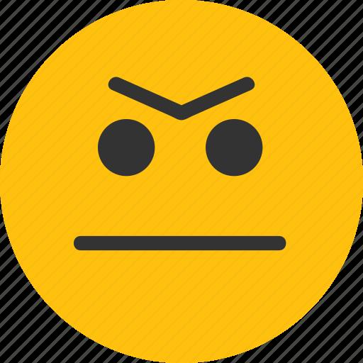 angry, angry emoji, emoji, emotion, mood icon