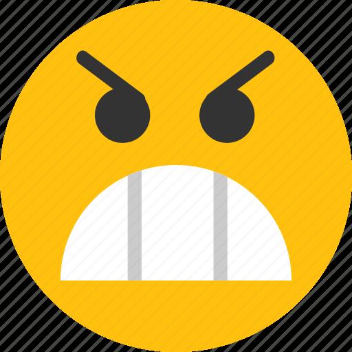angry emoji, emoji, emoticon, face, very angry icon