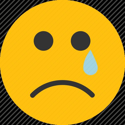 cry, emoji, mood, sad, unhappy icon