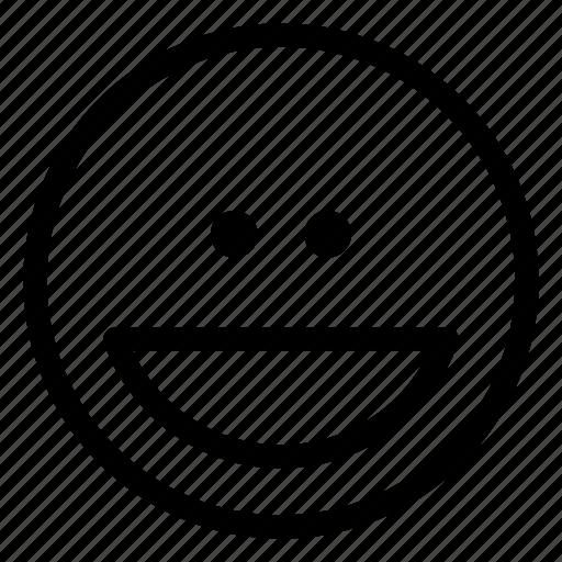 emoji, grin, wide icon