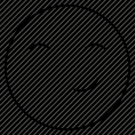 emoji, emoticon, face, naughty icon