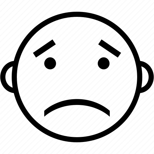 emoji, emoticon, emotion, face, sad icon