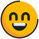 emoticon, face, grinning, smiling icon