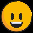 big eyes, emoticon, face, grinning icon