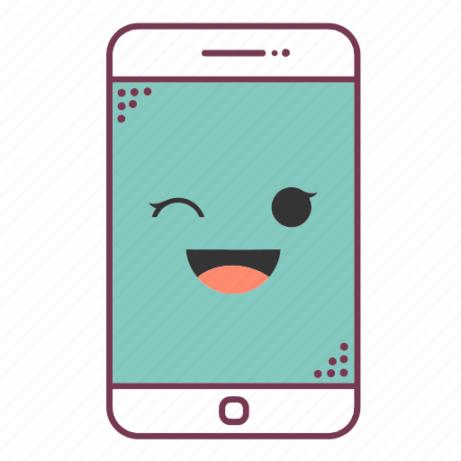device, devices, emoji, emoticon, mobile, phone, smartphone icon