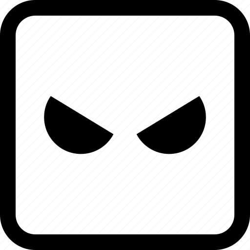 angry, emoji, emotion, expression icon