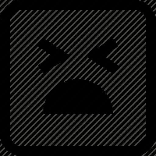 baby, cry, emoji, emotion, expression icon