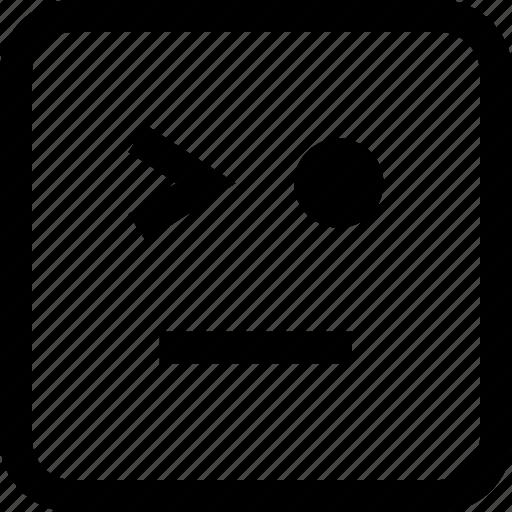 emoji, emotion, expression, wink icon