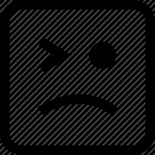 emoji, emotion, expression, winking icon
