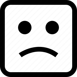 emoji, emotion, expression, sad icon