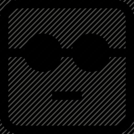emoji, emotion, expression, serious icon