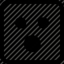 emoji, emotion, expression, shocked, wow icon