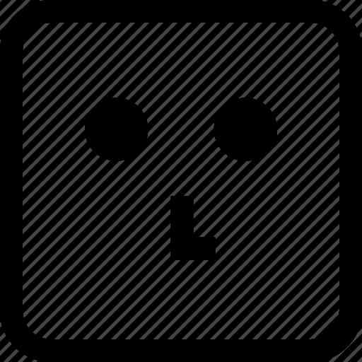 emoji, emotion, expression, think icon