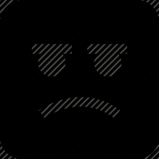 emoji, face, sad icon