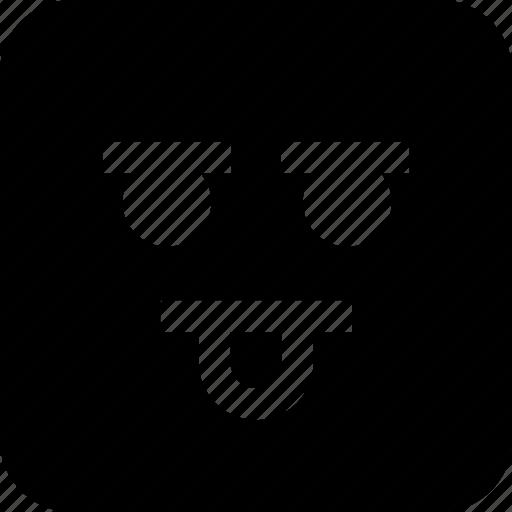 emoji, face, goofy icon