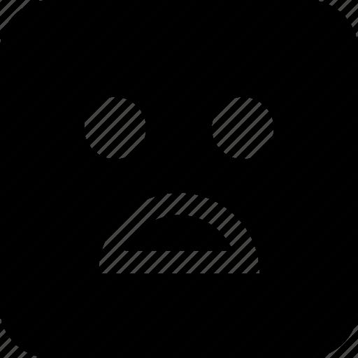 angry, emoji, sad icon