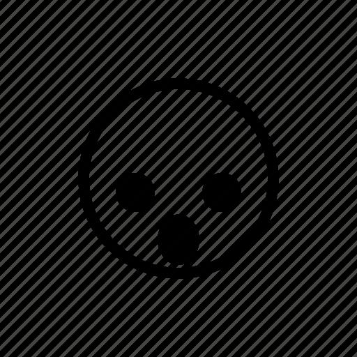 emoticon, shocked, surprised icon