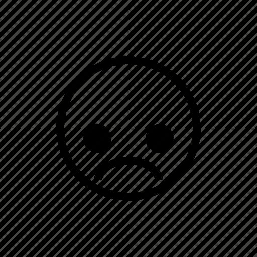 emoticon, sad, unhappy, upset icon