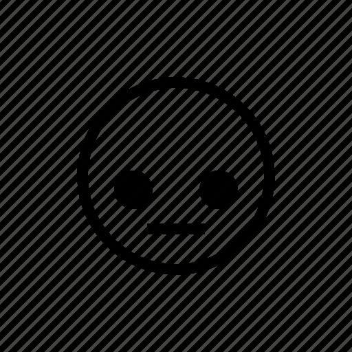 emoticon, speechless, stunned icon