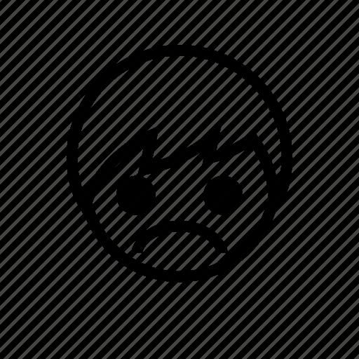 boy, emoticon, sad, unhappy icon
