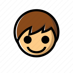 boy, cheerful, happy, joyfull, smile icon