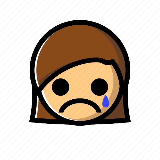 cry, crying, emotion, girl, sad, unhappy icon