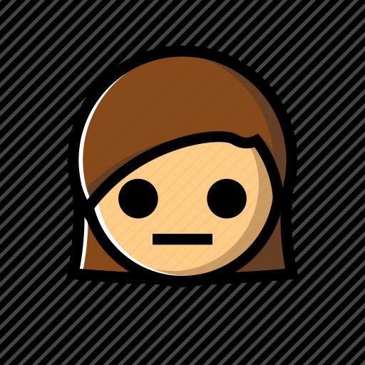 emotion, girl, shocked, speechless icon