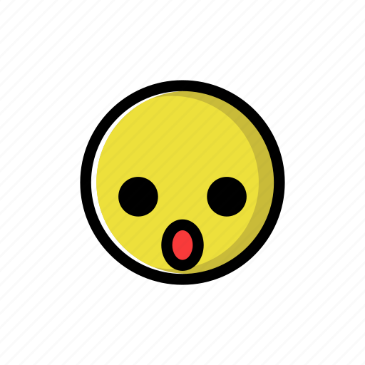 shocked, surprised, yellow icon