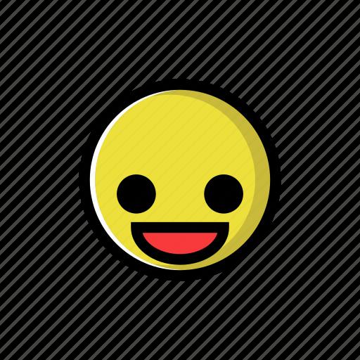 cheerful, happy, joy, laugh, smile, yellow icon