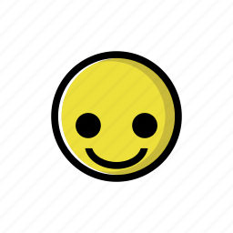 cheerful, happy, joy, pleasant, smile, yellow icon