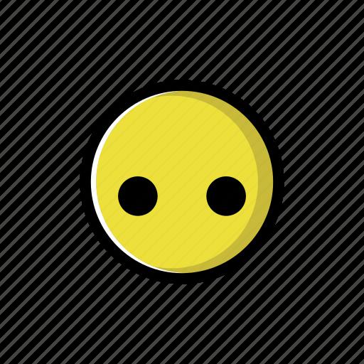 none, speechless, yellow icon