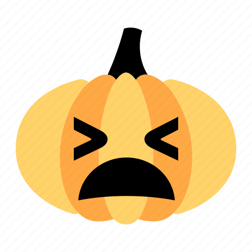 angry, character, emotion, expression, face, pumpkin, shout icon