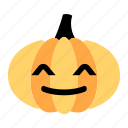 cute, expression, face, funny, happy, pumpkin, smile icon