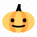character, cheerful, emoji, face, happy, pumpkin, smile icon