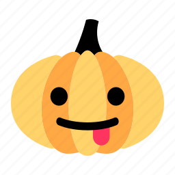 cartoon, character, cute, face, pumpkin, tease, tongue icon