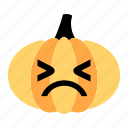 cartoon, character, emotion, face, pumpkin, sad, upset icon
