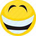 cartoon, cute, emoji, face, laugh, smile, smiley