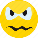 angry, emoji, emotions, expression, face, mood, sad icon