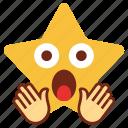cartoon, character, emoji, emotion, loud, star, voice