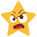 angry, annoyed, cartoon, character, emotion, moji, star