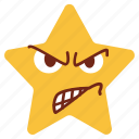 angry, annoyed, cartoon, character, emoji, emotion, star