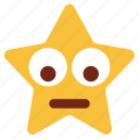 cartoon, character, down eyes, emoji, emotion, smiley, star
