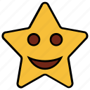 cartoon, character, emoji, emotion, happy, smile, star