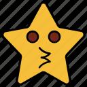 cartoon, character, emoji, emotion, kiss, smiley, star