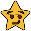 cartoon, character, emoji, emotion, smiley, star, wink