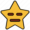 angry, cartoon, character, emoji, emotion, nodding, star