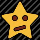 cartoon, character, emoji, emotion, star, thinking, upset